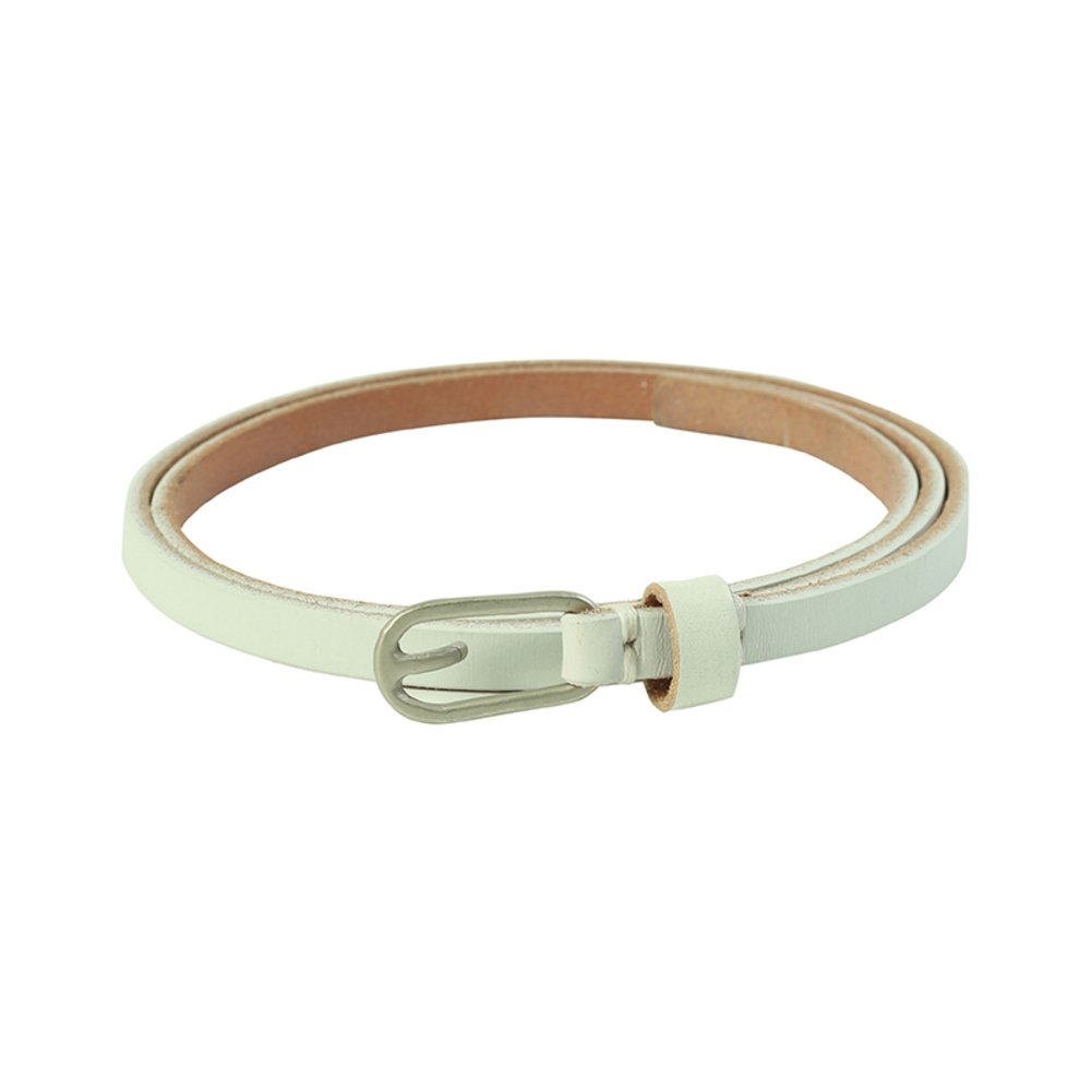 Leather Lady Decorative Narrow band Belt,Service Dress Simple All-purpose Girdle-B 100cm(39inch)