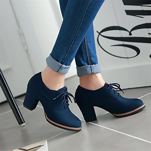 and thick and with Head versatile Taiwan boots boots Round ZQ Winter Blue shoes waterproof bare high sleek large QXAutumn women heeled OBq04S