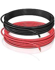 DCSk FLRY B asymmetisch 1,5 mm² - 5 m - voertuigkabel - set kleur rood/zwart - 5 m ring