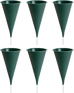 product image for Plastic Cone Cemetery Vase, 6-Pack