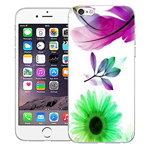 "Mobile Case Mate iPhone 6 4.7"" Silicone Coque couverture case cover Pare-chocs + STYLET - Purple Feather pattern (SILICON)"