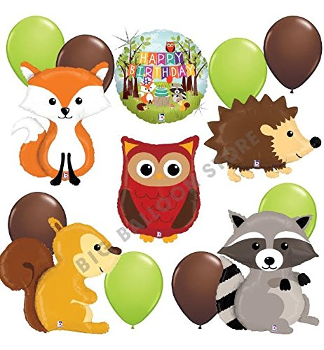 woodland-critters-ultimate-14pc-balloon-party-kit