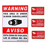 VideoSecu 4 CCTV Security Camera Video Warning Sticker Sign Decal Home Surveillance WB1