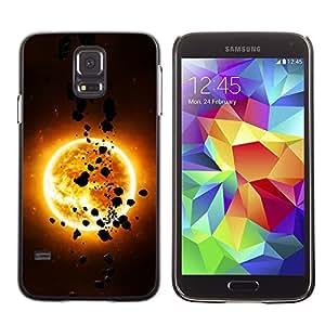 TopCaseStore / la caja del caucho duro de la cubierta de protección de la piel - The Sun & Asteroids - Samsung Galaxy S5 SM-G900