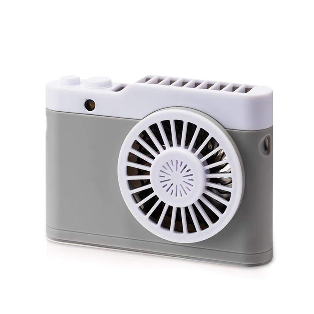 Fonction de lampe-torche automatique de mini ventilateur rechargeable multifonctionnel de collier portatif et baril d'Aromatherapy avec la batterie au lithium-ion de 18650 et le chargement d'USB en pl