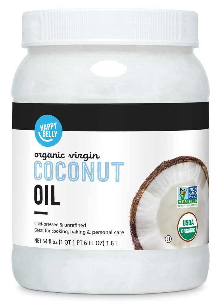 Amazon Brand - Happy Belly Organic Virgin Coconut Oil, 54 oz (Previously Solimo)