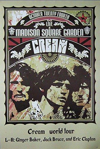 Cream world tour L-R Ginger Baker, Jack Bruce, and Eric Clapton Image Print Poster