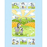 Susybee~Hildy The Goat Quilt Panel 35 x 44 Childrens Cotton Fabric