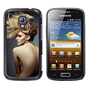 LECELL--Funda protectora / Cubierta / Piel For Samsung Galaxy Ace 2 I8160 Ace II X S7560M -- Hairstyle Naked Woman Sexy --