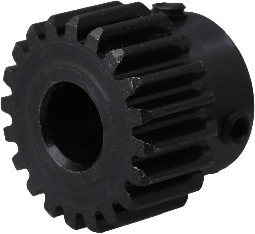 Professimart 2Pcs Steel 1 Die Spur Gear for Transmission- Teeth: 20 Hole Diameter:8 Mm