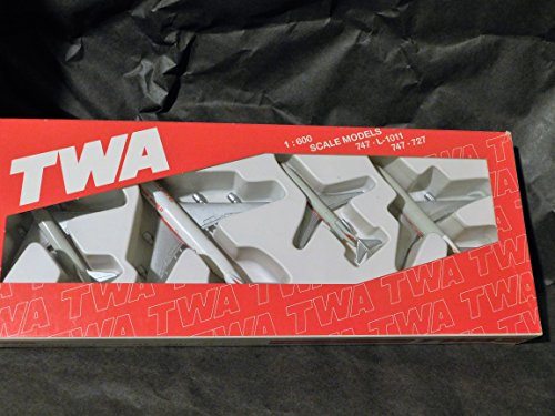 twa-airlines-4-plane-gift-set-by-schabak-made-in-germany-747l-1011-767727-1600-scale-model