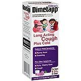 Dimetapp Children's Long Acting Cold & Cough Antihistamine & Cough Suppressant (Grape Flavor, 4 fl. oz. Bottle)