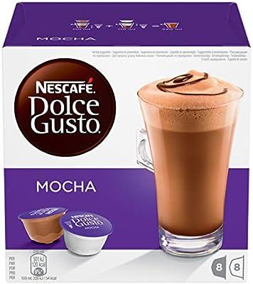 Nescafé Dolce Gusto Mocha, Paquete de 3 x 16 cápsulas, total 48 ...