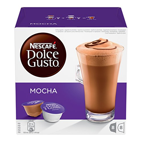 Nestle 'Mocha' for Dolce Gusto Coffee Capsules 16 Capsules (8 Servings)