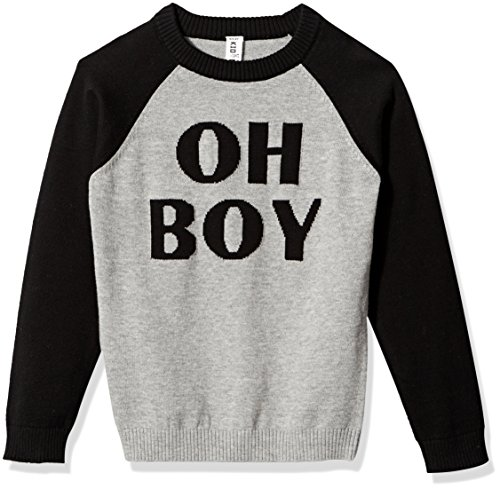 Kid Nation Kids'' Long Sleeve Cute Pullover Intarsia Pattern Sweater for Boys or Girls XL (Kids Sweater Pattern)