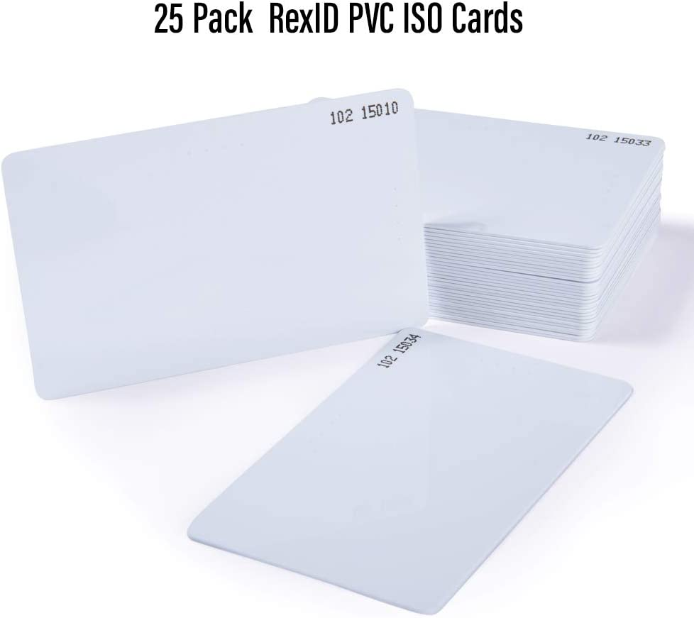 Default Programmed RexID H10301 PVC ISO Proximity Card for Access Control System Comparable to Standard 26 bit Format for Add-On /& Replacement on Current System