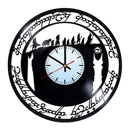 baden baden the lord of the rings two towers vinyl record wall clock get unique