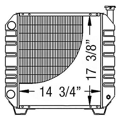 86402724 New Compact Tractor Radiator Made to Fit Ford/NH TC35 TC35D TC40 +