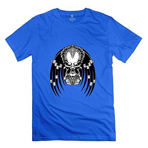 Men's Latest Tee - Predator Skull RoyalBlue Size XL (Day Of The Dead Mask For Sale)