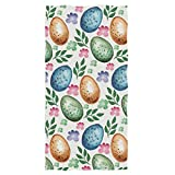 Wamika Easter Eggs Hand Towels Ultra Soft Towel Spring Flowers Absorbent Hand Towel Fade Resistant Bath Towels Washcloth Multipurpose for Hand Face Gym Spa 15'' x 30''