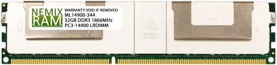 PARTS-QUICK Brand 32GB Memory for Tyan Computers Motherboard S7067 DDR3 PC3-14900 1866MHz 4RX4 LRDIMM