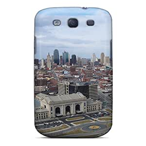 Awesome Kansas City Flip Case With Fashion Design For Galaxy S3