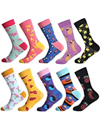 0ab5857f8 Men's Fun Dress Socks - Colorful Funny Novelty Crazy Crew Socks Packs with  Cool Argyle Pattern