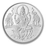 Ananth Jewels BIS Hallmarked 999 Purity Silver Coin Sitting Lakshmi And Shree 1 Gram x Pack of 5