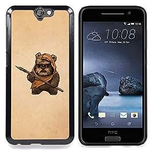 GIFT CHOICE / Teléfono Estuche protector Duro Cáscara Funda Cubierta Caso / Hard Case for HTC One A9 // Bea Caveman Art Dagger Brown Painting Funny //