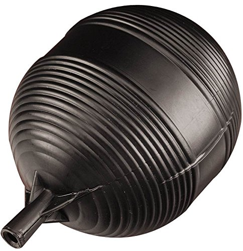 Keeeny PP9906-1 Plastic Tank Float Ball 4 inch X 5 inch, Black