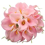 StarLifey-20-head-Latex-Real-Touch-Flower-Bridal-Wedding-Bouquets-Calla-Lily-Artificial-Silk-Flower-Bundle-Home-Party-Decor-Pink