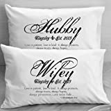 1 Corinthians 13 Love Bible Verse Pillow Cases – Wife Husband Wedding, Anniversary, Gift Idea for Couples.