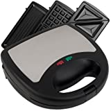 5 in 1 waffle maker - Chef Buddy 3 in 1 Sandwich Panini and Waffle Press