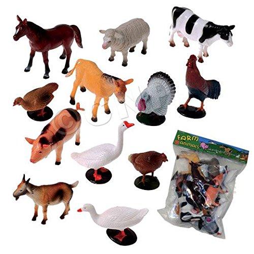 US Toy Company 2386 Farm Animals, 12 (Toy Farm Animals)
