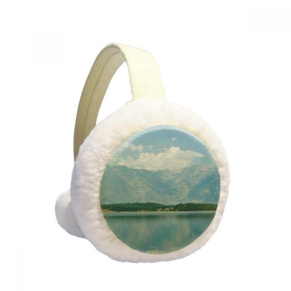 Mountain River Forest Reflection Sky Cloud Winter Earmuffs Ear Warmers Faux Fur Foldable Plush Outdoor Gift