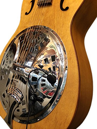 The Feather TRICONE Metal Body Resonator Guitar Pickup with Flexible Micro-Goose Neck by Myers Pickups