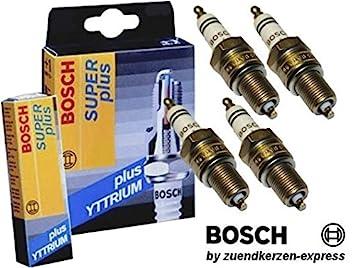 BOSCH SUPER plus +18 Yttrium HR 6 DC+ 0242240848 Bujías de Encendido, 4 piezas: Amazon.es: Coche y moto