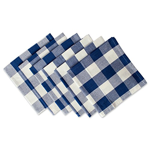 DII Cotton Buffalo Check Oversized Basic Cloth Napkin for Everyday Place Settings, Farmhouse Décor, Family Dinners, BBQ's, and Holidays (20x20