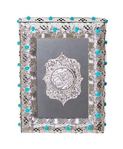 Holy Koran Decorative Storage Box with Turquoise Blue Stones by LA Prestige Kitchens
