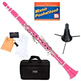 Mendini MCT-PK+SD+PB Pink ABS B Flat Clarinet with