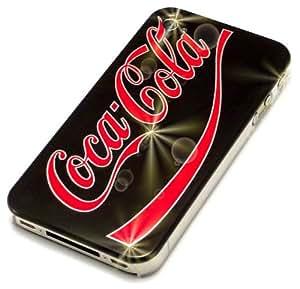 """""""Cola"""" Limitado, Cubierta de plástico duro & """"Fiver"""" Negro, Sostenedor de teléfono - para iPhone 4. Paquete único de Cubierta / Estuche / Carcasa / Funda para iPhone 4 & Auténtico sostenedor de teléfono para iPhone 4."""