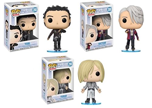 Funko POP! Yuri on Ice Yuri + Victor + Yurio – Stylized Vinyl Figure Set NEW