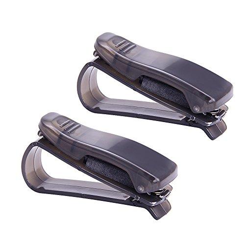 JTDEAL 2PCS Car Glasses Holder Durable Car Sun Visor Glasses Sunglasses Holder - Sunglass Ons Clip Magnetic