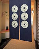 Edress Noren Japanese Doorway Curtain Curtains fishes Door (Style 15)