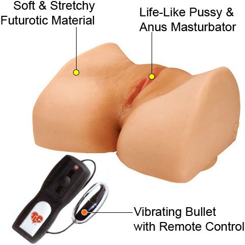 Topco TLC Bree Olson CyberSkin Vibrating Suction-base Pussy and Ass, Best Real Dolls