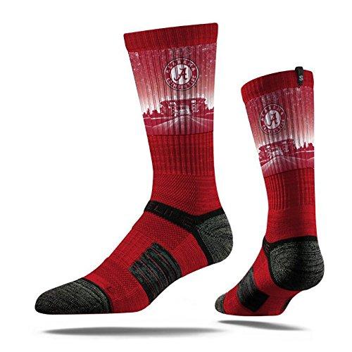 Strideline NCAA Alabama Crimson Tide Premium Athletic Crew Socks, Red, One Size (2009 Nfl Player)