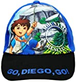 Go Diego Go Hat | Boys Baseball Cap - Black Shield/blue | Offical Licensed