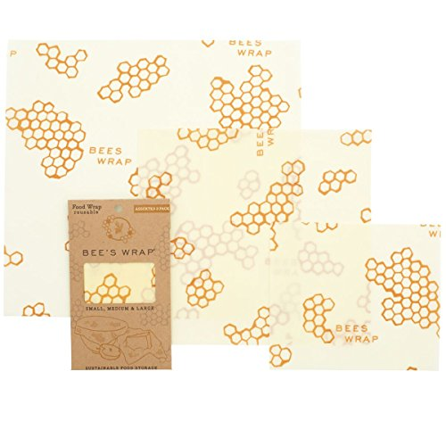 Beeswax food wrap on white background.