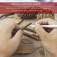 Pr/áctico mango de metal cuchillo artesanal con 5 cuchillas de corte de bistur/í grabado herramienta de metal grabado herramienta de mano bricolaje
