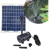 Kit Pompe solaire 470L/h pour bassin de jardin avec panneau solaire 7W - Expédié depuis la France